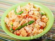 Кус-кус с пиле и зеленчуци